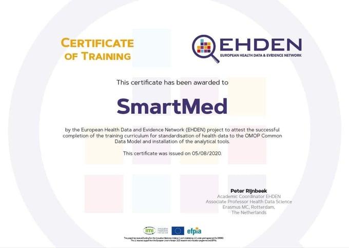 SmartMed toegetreden tot het SME-netwerk van EHDEN